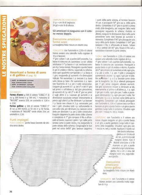 le set de table au crochet l\'oeuf et hen (3)
