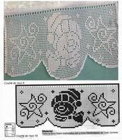 bordure bonhomme de neige grille crochet filet